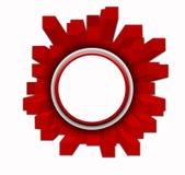 Roter Kristallkennsatz Lizenzfreie Stockfotografie