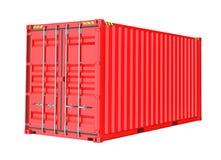 Roter Ladung-Behälter Isoalted stockfotos
