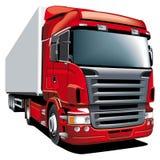 Roter Lastwagen Stockbild