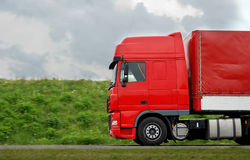 Roter Lastwagen Lizenzfreie Stockbilder