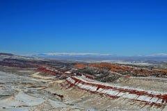 Roter Lebensraum-Managementbereich der Schlucht-wild lebenden Tiere außerhalb des Lander WY lizenzfreies stockfoto