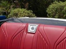 Roter Ledersitz Chevrolet Impala SS in Lima Lizenzfreie Stockbilder