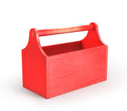 Roter leerer Werkzeugkasten Stockbilder