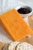 Roter Leicester-Käse Lizenzfreies Stockbild