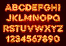 Roter Leuchtstoff Neonguß auf dunklem Hintergrund vektor abbildung