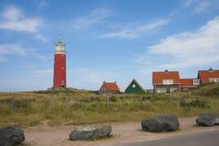 Roter Leuchtturm lizenzfreie stockbilder
