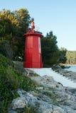 Roter Leuchtturm Lizenzfreie Stockfotos