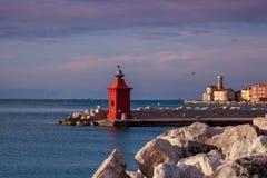 Roter Leuchtturm Lizenzfreies Stockbild