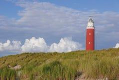 Roter Leuchtturm Texel stockfoto
