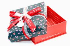 Roter Liebes-Kasten Stockfoto