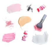 Roter Lippenstift auf Weiß Lizenzfreie Stockbilder