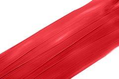 Roter Lippenstift befleckt Stockfoto