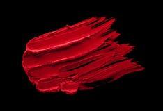 Roter Lippenstiftfleck Stockfotos