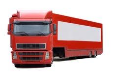 Roter LKW Stockbild