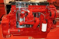 Roter LKW-Motor Lizenzfreie Stockfotos
