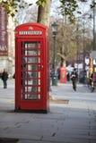 Roter London-Telefonkasten Lizenzfreies Stockbild