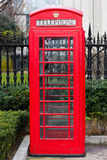 Roter London-Telefonkasten Stockbild