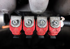 Roter LPG-Injektor Stockbilder