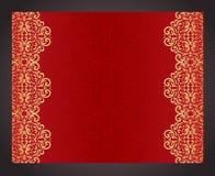 Roter Luxushintergrund in der Weinleseart Stockfotos