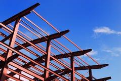 Roter metall Aufbau Stockfotos