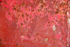 Roter Metallschmutzhintergrund stockbild