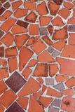 Roter mit Ziegeln gedeckter Fußboden background.jpg Stockfotos