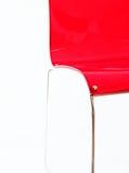 Roter moderner Stuhl Stockfoto