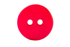 Roter nähender Knopf lokalisiert auf Weiß Lizenzfreie Stockbilder