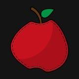 Roter Nahtapfel mit Schatten Stockfotografie