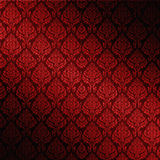 Roter nahtloser Damast Lizenzfreie Stockbilder