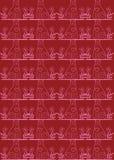 Roter nahtloser Katzehintergrund Lizenzfreie Stockfotografie