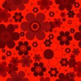Roter nahtloser mit Blumenhintergrund lizenzfreie abbildung