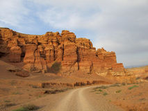 Roter Nationalpark Schlucht Charyn (Sharyn) lizenzfreies stockfoto