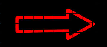 Roter Neonpfeil Lizenzfreies Stockfoto