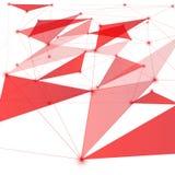 Roter Netznetzhintergrund lizenzfreie abbildung