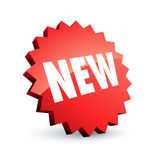 Roter neuer Kennsatz Lizenzfreies Stockbild
