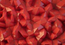 Roter niedriger Polyhintergrund Stockfotografie