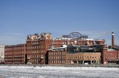 Roter Oktober-Komplex in Moskau Stockfotos