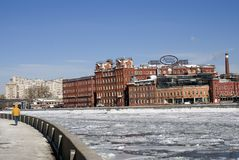 Roter Oktober-Komplex in Moskau Stockbild