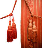 Roter orientalischer Trennvorhang Lizenzfreie Stockfotos