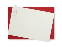 Roter Papierumschlag lizenzfreies stockbild