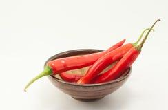 Roter Paprika auf weißem Hintergrund Stockfoto