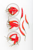 Roter Paprika lokalisiert Stockfotos