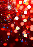 Roter Partyhintergrund Stockfoto