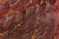 Roter Pfeffer-Trockenfleisch vom Rind Stockbild