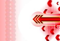 Roter Pfeilauszug lizenzfreie abbildung