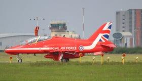 Roter Pfeile R.A.F.-Jet lizenzfreies stockfoto