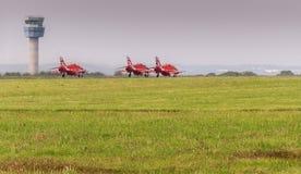Roter Pfeile R.A.F.-Jet lizenzfreies stockbild