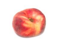 Roter Pfirsich lokalisiert auf weißem Hintergrund Stockbilder