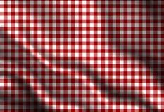 Roter Picknickstoff Stockfoto